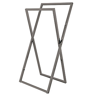 Kingston Brass Edenscape Freestanding X-Style Towel Rack, Brushed Nickel, rollover