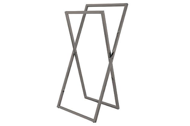 Kingston Brass Edenscape Freestanding X-Style Towel Rack, Brushed Nickel, large