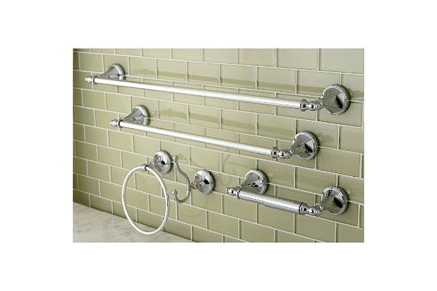 Kingston Brass Naples 5-piece Bathroom Hardware Set, Polished Chrome, large
