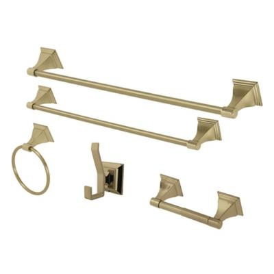 Kingston Brass Monarch 5-piece Bathroom Hardware Set, Polished Brass, large