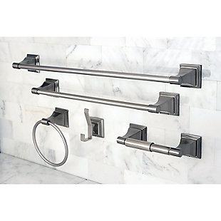 Kingston Brass Monarch 5-piece Bathroom Hardware Set, Brushed Nickel, large