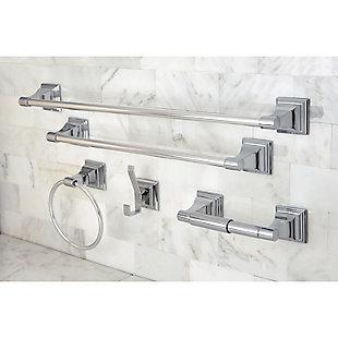 Kingston Brass Monarch 5-piece Bathroom Hardware Set, Polished Chrome, large