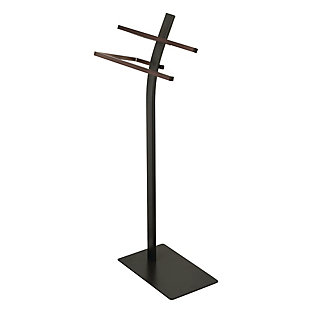 Kingston Brass Edenscape Freestanding Dual Pedestal Towel Rack, Oil Rubbed Bronze, large