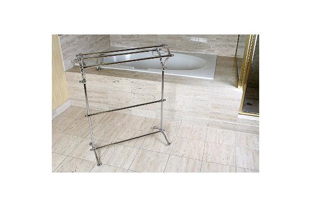 Kingston Brass Edenscape Freestanding Y-Type Pedestal Towel Rack, Polished Chrome, large