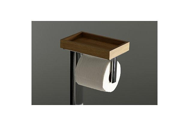 Kingston Brass Edenscape Toilet Paper Holder with Storage Shelf, Polished Chrome, large