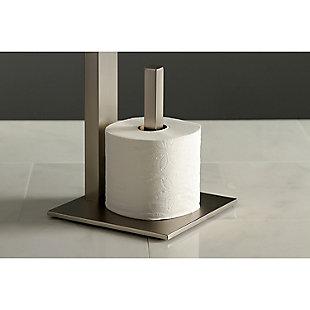 Kingston Brass Edenscape Toilet Paper Holder with Storage Shelf, Brushed Nickel, large