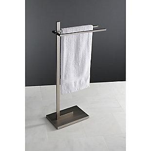 Kingston Brass Edenscape Freestanding Multiple Towel Rack, Brushed Nickel, large