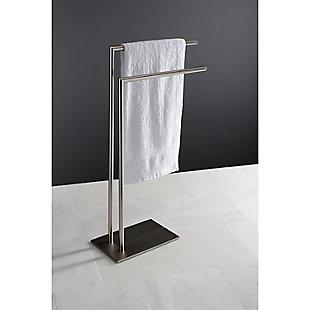 Kingston Brass Edenscape Freestanding 2-Tier Towel Rack, Brushed Nickel, large