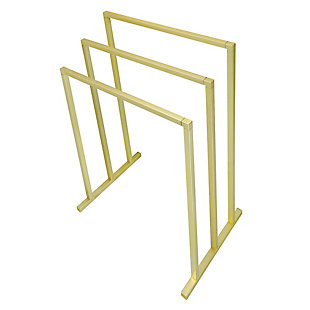 Kingston Brass Edenscape Freestanding European Towel Rack, Polished Brass, rollover