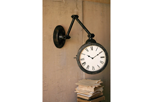 Home Accents Wall Clock by Ashley HomeStore, Black & White