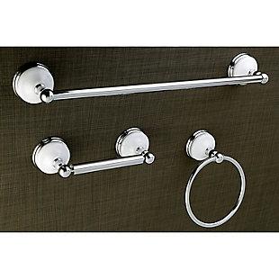 "Kingston Brass Victorian 3-piece Bathroom Hardware Set with 18"" Towel Bar, Polished Chrome, large"