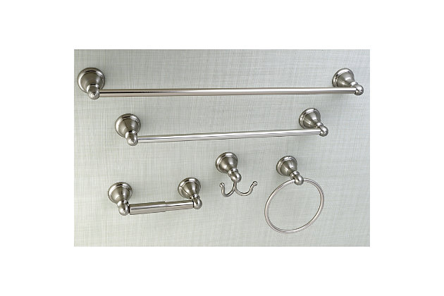 Kingston Brass Santa Fe 5-piece Bathroom Hardware Set, Brushed Nickel, large