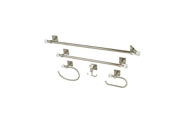 Kingston Brass Celebrity 5-piece Bathroom Hardware Set, Brushed Nickel, large