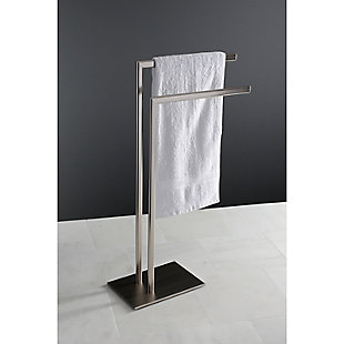 Kingston Brass Edenscape Freestanding Tiered Towel Rack, Brushed Nickel, large