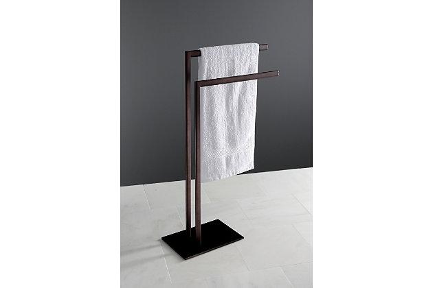 Kingston Brass Edenscape Freestanding Tiered Towel Rack, Oil Rubbed Bronze, large