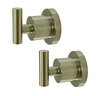 Kingston Brass Concord Robe Hook Set, Brushed Nickel, rollover