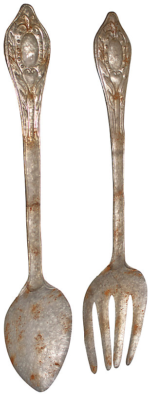 Home Accents Fork and Spoon Wall Decor (Set of 2), , large