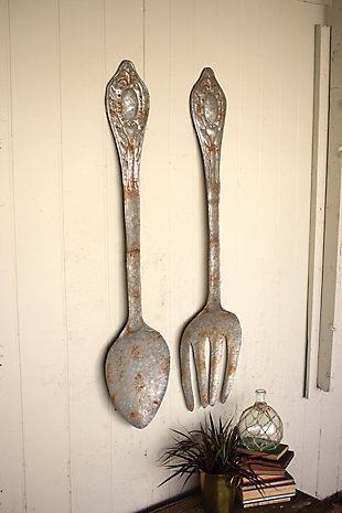 Home Accents Fork and Spoon Wall Decor (Set of 2), , rollover
