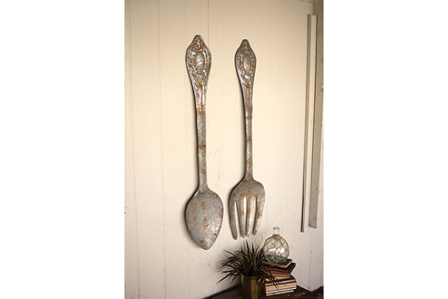 Wall Decor Set home accents fork and spoon wall decor (set of 2) | ashley