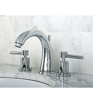 Kingston Brass Concord Widespread Bathroom Faucet with Brass Pop-Up, Polished Chrome, rollover