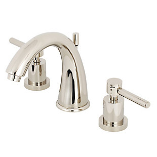 Kingston Brass Concord Widespread Bathroom Faucet with Brass Pop-Up, Polished Nickel, large