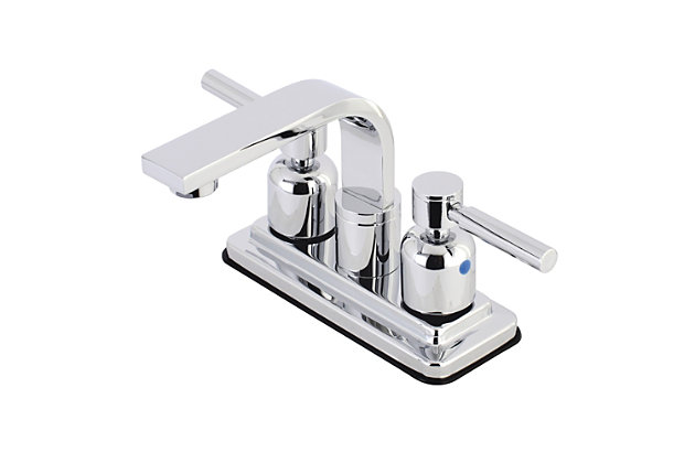 """Kingston Brass Concord 4"""" Centerset Bathroom Faucet with Push Pop-Up, Polished Chrome, large"""