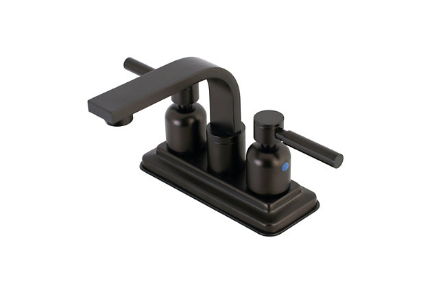 """Kingston Brass Concord 4"""" Centerset Bathroom Faucet with Push Pop-Up, Oil Rubbed Bronze, large"""