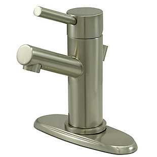 Kingston Brass Concord Single-Handle Bathroom Faucet with Brass Pop-Up, Brushed Nickel, large