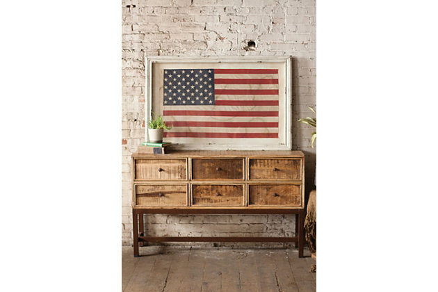 Wall decor ashley furniture : Home accents united states flag wall decor ashley