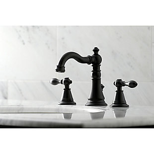 Kingston Brass English Classic Widespread Bathroom Faucet with Drain, , rollover