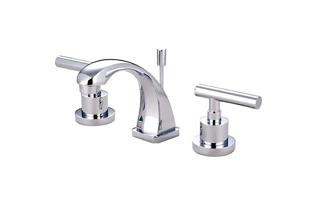 Kingston Brass Manhattan Widespread Bathroom Faucet with Brass Pop-Up, Polished Chrome, large