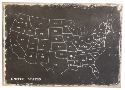 Ashley Accents United States Map Wall Decor Home
