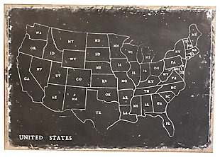 Home Accents United States Map Wall Decor, , large