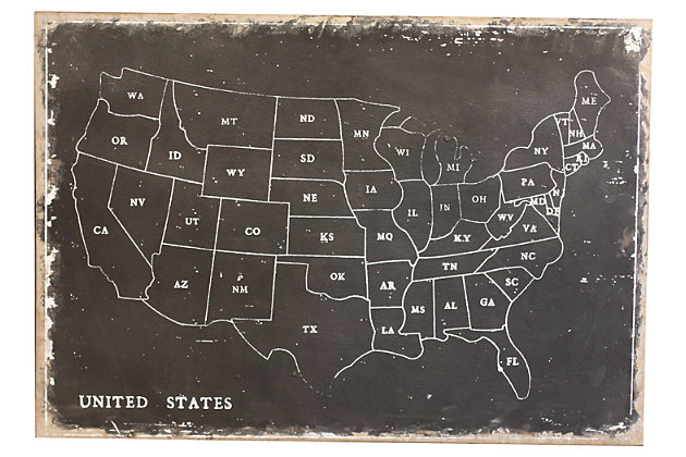Attirant Home Accents United States Map Wall Decor, , Large