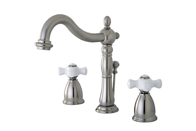 Kingston Brass Heritage Widespread Bathroom Faucet With Plastic Pop Up Ashley Furniture Homestore