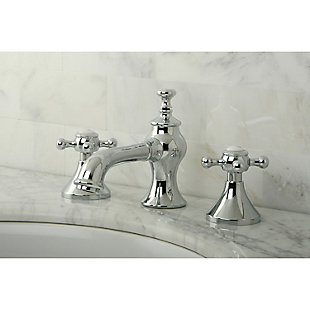 Kingston Brass English Country Widespread Bathroom Faucet with Brass Pop-Up, Polished Chrome, large