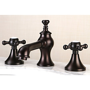 Kingston Brass English Country Widespread Bathroom Faucet with Brass Pop-Up, Oil Rubbed Bronze, large