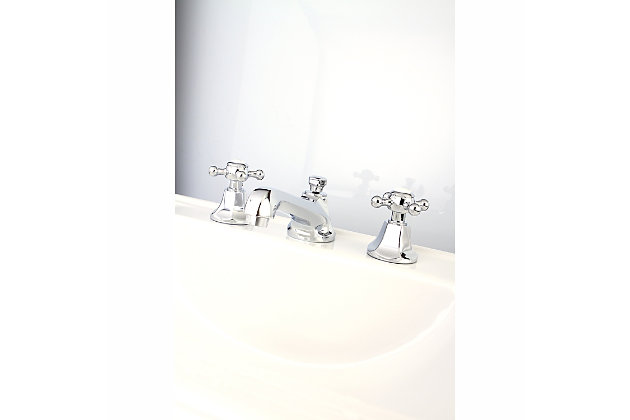 Kingston Brass Metropolitan Widespread Bathroom Faucet with Brass Pop-Up, Polished Chrome, large