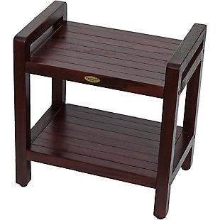 DecoTeak Eleganto Teak Wood Shower Bench with LiftAide Arms, , rollover