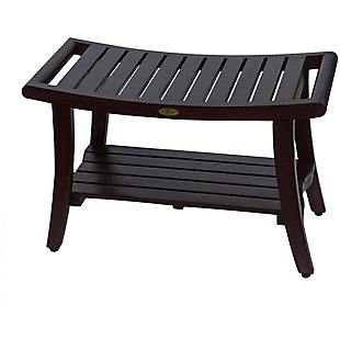 DecoTeak Harmony Teak Wood Shower Bench with LiftAide Arms, , rollover