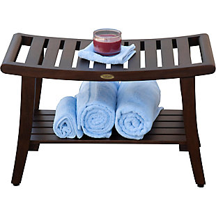DecoTeak Harmony Teak Wood Shower Bench with LiftAide Arms, , large