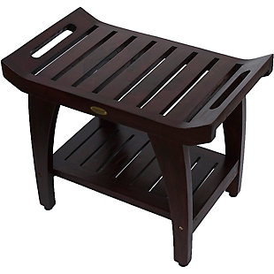 DecoTeak Tranquility Teak Wood Shower Bench with LiftAide Arms, , rollover