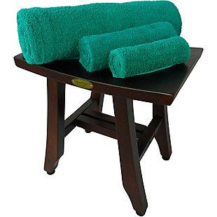 DecoTeak Satori Teak Wood Shower Bench, , large