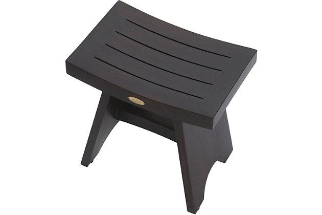DecoTeak Serenity Teak Wood Shower Bench, , large