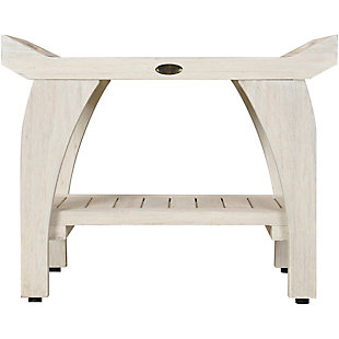 CoastalVogue Tranquility Teak Wood Shower Bench with LiftAide Arms, , rollover