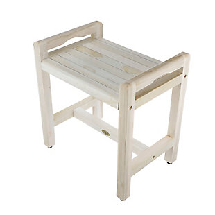 CoastalVogue Eleganto Teak Wood Shower Bench with LiftAide Arms, , large