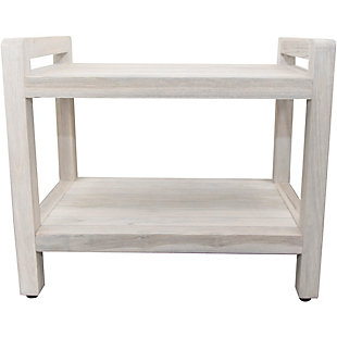 CoastalVogue Eleganto Teak Wood Shower Bench with LiftAide Arms, , rollover