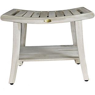 CoastalVogue Harmony Teak Wood Shower Bench with LiftAide Arms, , large