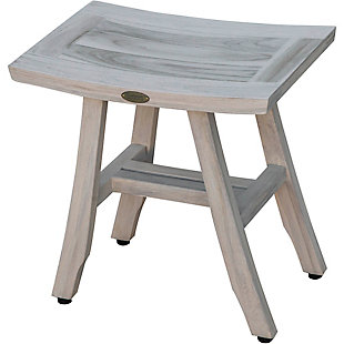 CoastalVogue Satori Teak Wood Shower Bench, , large
