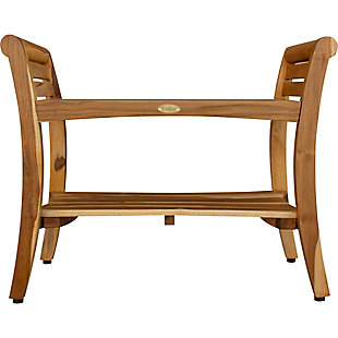 EcoDecors  Symmetry Teak Wood Shower Bench with LiftAide Arms, , rollover